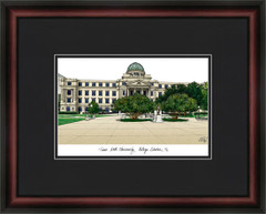 Texas A&M University Campus Lithograph Picture