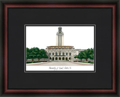 University of Texas Campus Lithograph Picture