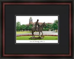 Texas Tech University Campus Lithograph Picture