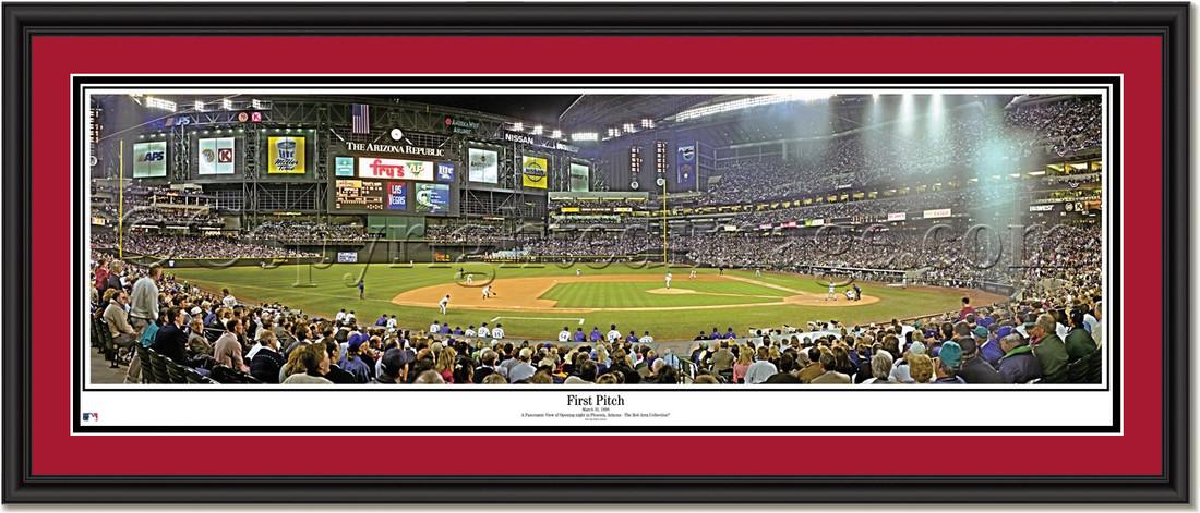 Chase Field Arizona Diamondbacks First Pitch Arizona Panoramic Poster