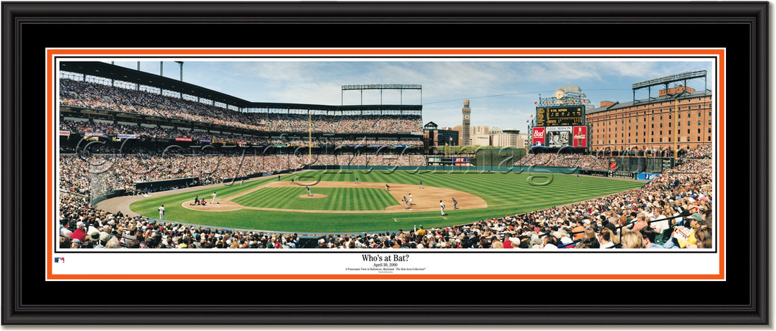 Baltimore Orioles Whos At Bat Framed Picture