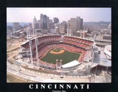 Cincinnati Reds Great American Ballpark Poster