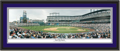 Colorado Rockies Coors Field Top of the Fourth double matted