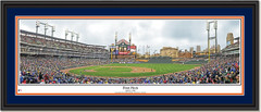 Detroit Tigers Comerica Park - First Pitch Double Mat Black Frame