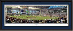 Milwaukee Brewers Miller Park First Pitch Brewers Framed Picture Double Mat Black Frame
