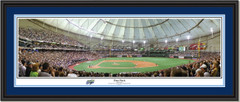 Tampa Bay Rays Tropicana Field First Pitch Panoramic Poster Double Matting and Black Frame