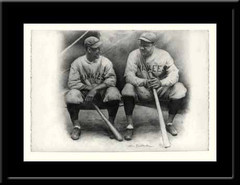 Ruth and Gehrig Vintage Print