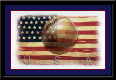 The National Pastime Vintage Baseball Poster