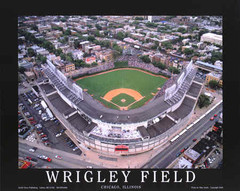 Wrigley Field Poster - Cubs Aerial Photo