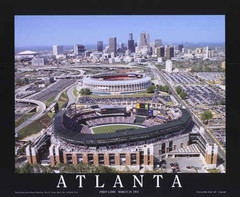Turner Field Poster - Aerial Photograph
