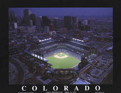 Coors Field Aerial Photo Poster