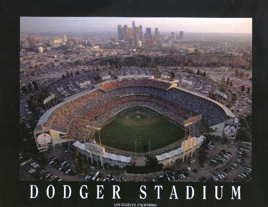 Dodger Stadium Aerial Photo L A Picture