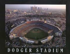 L.A.'s Dodger Stadium Aerial Photo