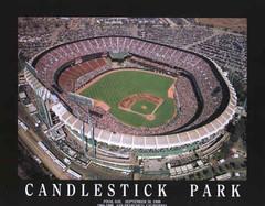 San Francisco Giants' Candlestick Park Poster