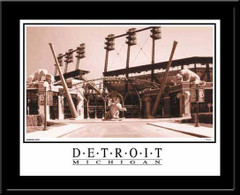 Comerica Park Black and White Print