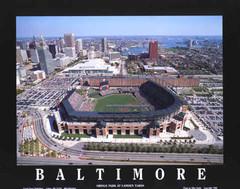 Baltimore Oriole Park Aerial Framed Poster