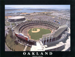 Oakland Athletics McAfee Stadium Poster