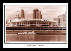 Riverfront Stadium Print