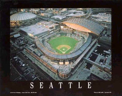 Seattle Mariners' Safeco Field Night Game Poster