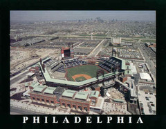 Citizens Bank Park Home of the Phillies Framed Aerial Photo