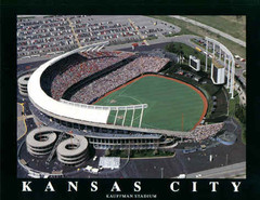 Kansas City Royals Kauffman Stadium Poster