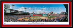Boston Red Sox Fenway Park A Day to Remember Framed Print matted