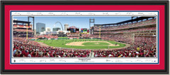 St. Louis Cardinals - Inaugural Game Busch Stadium Signature Edition DOUBLE MATTING and BLACK FRAME