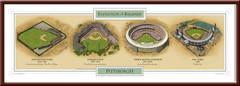 Evolution of the Pittsburgh Pirates Ballpark Poster