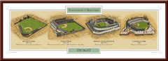 Evolution of the Ballpark Detroit Tigers Poster