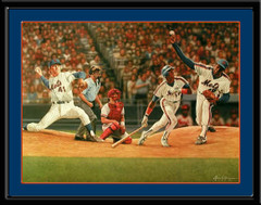 New York Mets Legends Framed Print