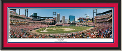 St. Louis Cardinals First Pitch at Busch Stadium DOUBLE MATTING and BLACK FRAME