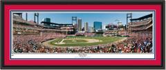 St. Louis Cardinals First Pitch at Busch Stadium DOUBLE MATTING and BLACK FRAME