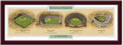 Evolution of the Cleveland Indians Ballpark Poster