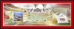 St. Louis Cardinals Busch Stadium History Print