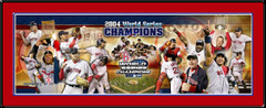 World Series 2004 Collage Framed Red Sox Poster