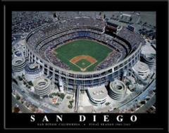 San Diego Padres' Qualcomm Stadium Poster