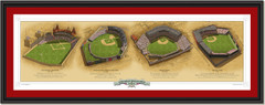 Boston Historic Ballparks Framed Print