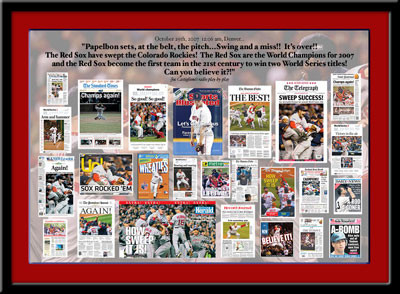 Boston 2007 Red Sox Newspaper Headlines
