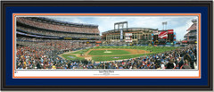 New York Mets Shea Stadium - Last First Pitch Double Matting
