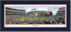 New York Mets Shea Stadium - Final Opening Day with Signatures Double Matting