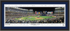 NY Yankees 27th World Series Championship Poster with Signatures Double Matting