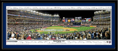 NY Yankees World Series 2009 Opening Ceremonies Poster with Signatures