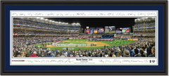 NY Yankees World Series 2009 Opening Ceremonies Poster with Signatures Double Matting