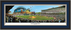 Milwaukee Brewers Last Pitch at County Stadium Double Mat Black Frame