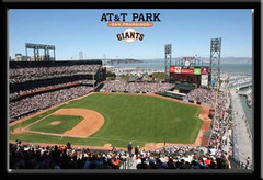 San Francisco Giants Framed Poster AT&T Park