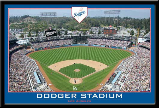 LA Dodgers Dodger Stadium Framed Poster