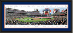 New York Mets Citi Field Inaugural Game Framed Poster with Signatures Double Matting