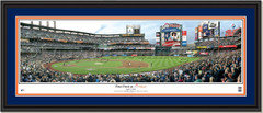 New York Mets Citi Field First Pitch Framed Poster  Double Matting