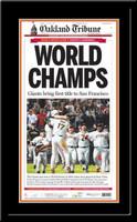 Giants 2010 World Champs Newspaper Headlines Framed Poster