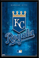 Kansas City Royals Framed Logo Poster